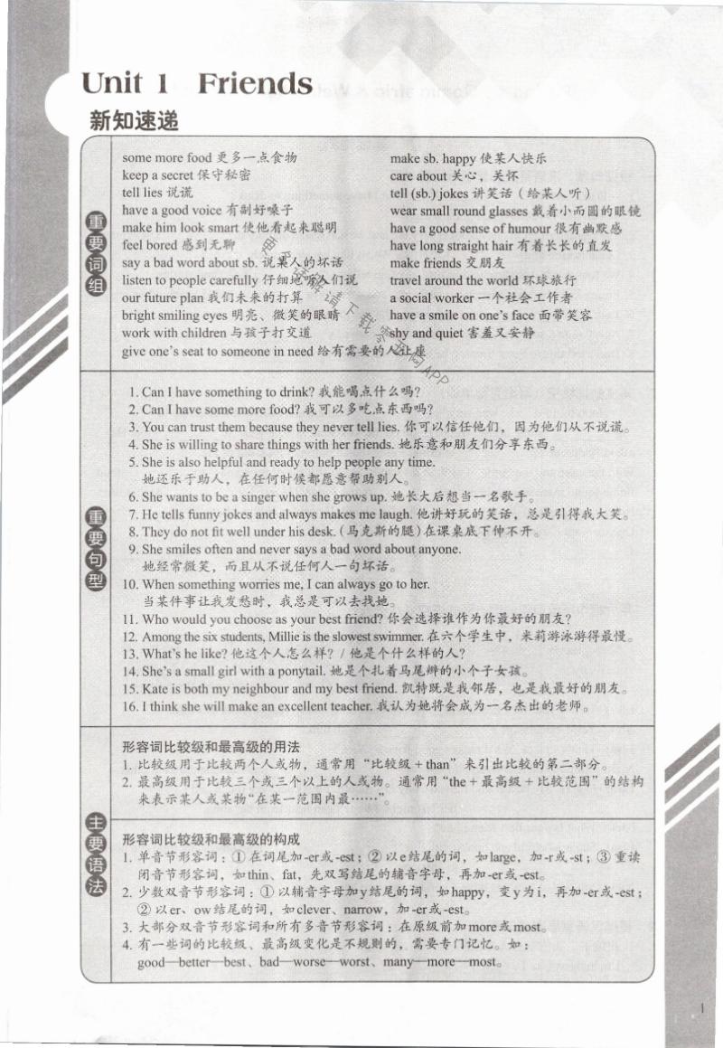 2021年课课练初中英语八年级上册译林版第1页