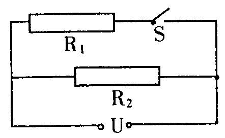 并联----电流之比 多两个定值电阻的阻值大小关系是,断开开关s时电路