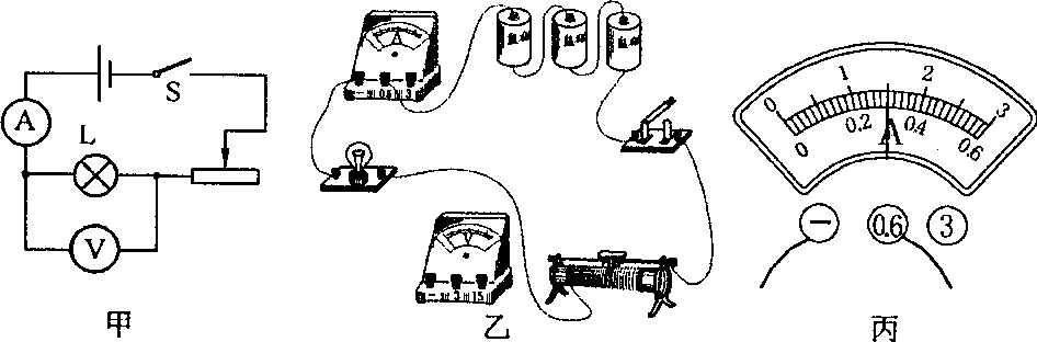 """如图12甲所示是""""测量小灯泡额定功率""""的实验电路图,已知小灯泡的额定"""
