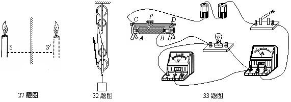 """5v小灯泡的电功率""""的实验中,小东同学已连接好如下图27所示的部分电路"""