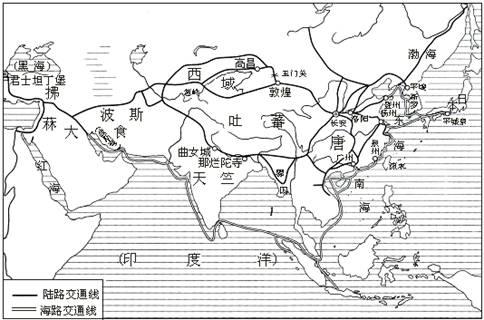 阅读下图:丝绸之路是中国古代与中亚.西亚和欧洲.图片