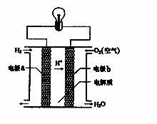 氢氧燃料电池是一种新能源 如图为氢氧燃料电池示意图 下列说法不正确的是 a.a极是正极,b