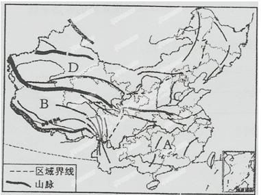 中国地形图(手绘)