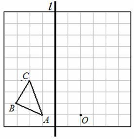 本小题满分6分 如图,在边长为1个单位长度的小正方形组成的网格中,给出了格点 ABC 顶点是网格线的交点 和点A1. 画出 ABC关于点的中心对称图形. 精英家教网