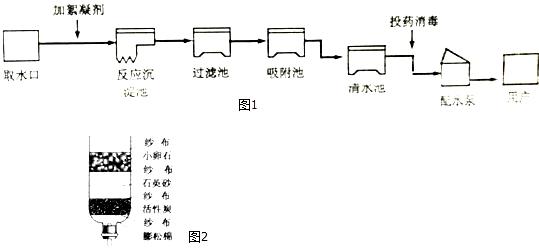 (1)图1是自来水厂净水过程示意图.