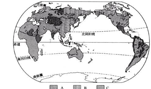 亚洲人口稠密曲区是_...读下图.回答问题. 1 世界人口最稠密的四个地区是.亚洲