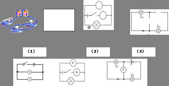 根据图所示的实物电路,画出它相应的电路图,并在电路图上标明电流流动