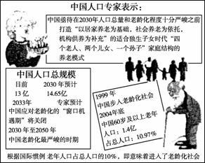 材料.回答下列问题. 1 目前中国人口问题的主要表现是 . . 2 分析材料.