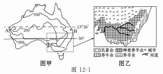 读澳大利亚和南美洲的气候分布图.完成下列各题. 1 比较两图中A.a所示的热带沙漠气候的分布特点及主要成因. 2 澳大利亚东岸B.C.D三地气候与南美洲西岸a.c.d图片