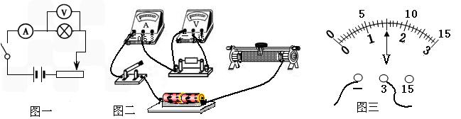 (2)根据连接完整的电路进行实验,第3次实验电压表的示数如图三,其