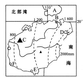 读海南岛地图,回答问题.