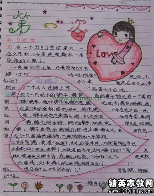 小学生读书笔记范文图片