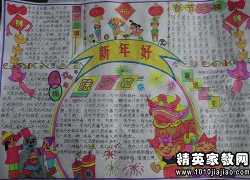 2015年羊年春节手抄报黑板报资料内容大全
