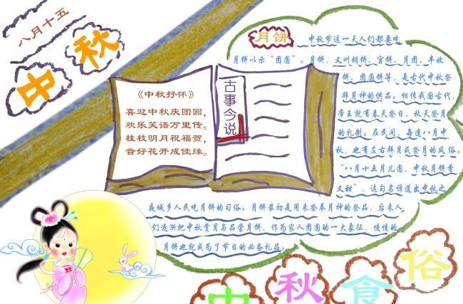 实用文档 学生天地 学习 手抄报 > 2014中秋节手抄报图片[简单漂亮]