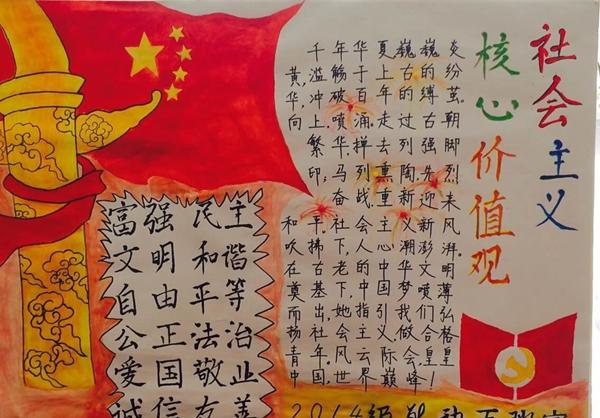 """弘扬社会主义核心价值观手抄报内容:从""""点滴""""做起"""