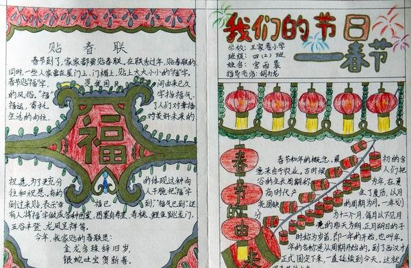 关于春节的手抄报资料:除夕的由来图片