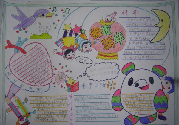 春节手抄报图片大全(2015年简单又漂亮的)