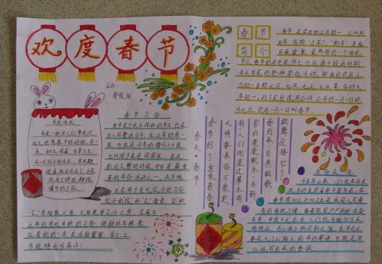 2015羊年春节手抄报内容资料图片