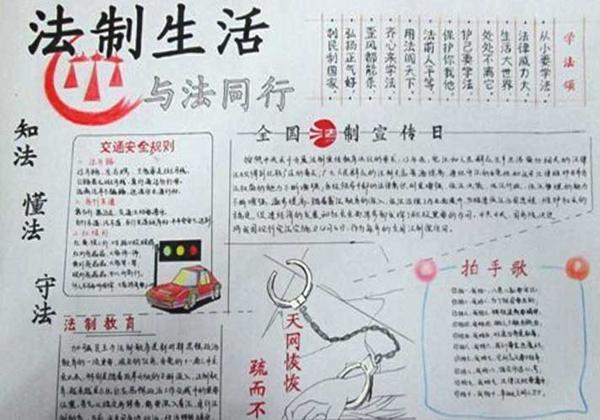 中国法制宣传日手抄报