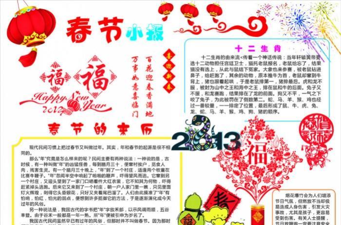 春节手抄报资料:年画