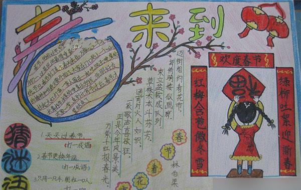 猴年春节手抄报资料