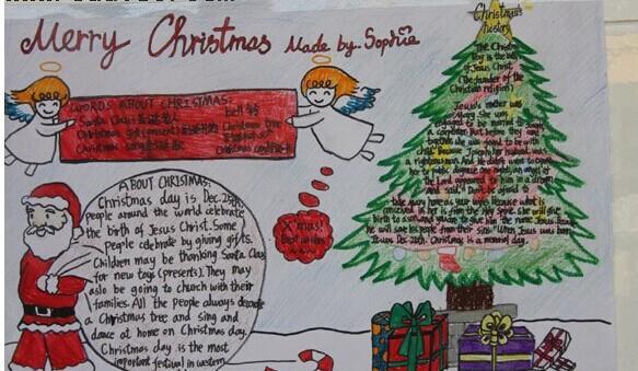 学生天地 学习 手抄报 > 学生圣诞节手抄报     用灯烛和装饰品把枞树