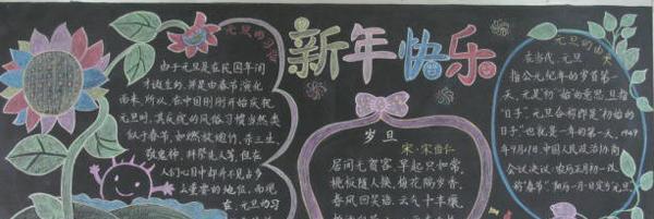2016春节黑板报素材