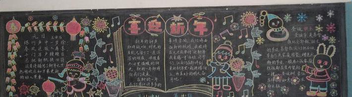 猴年新年黑板报设计