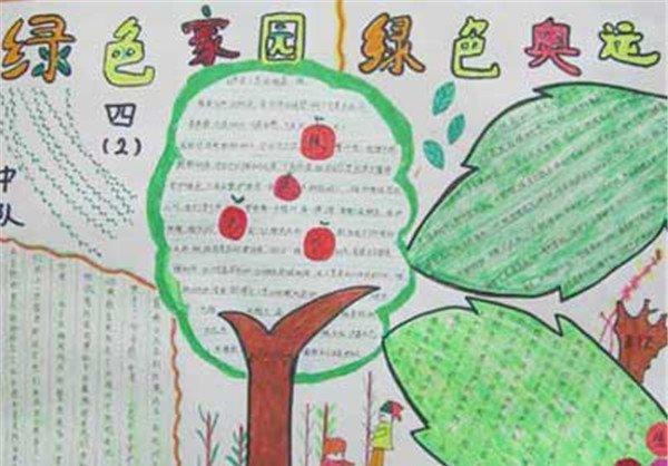 二年级植树节手抄报