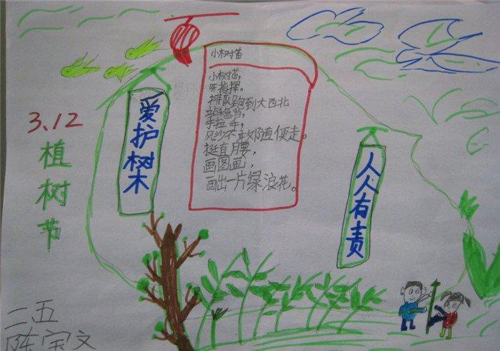 关于植树节手抄报的内容图片