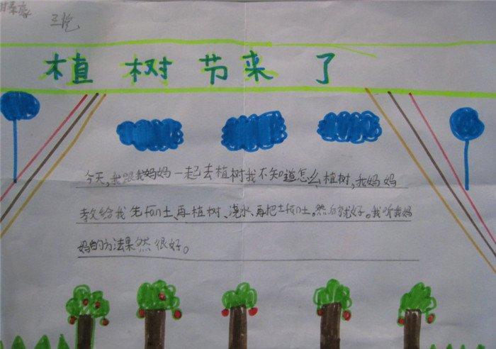 关于植树节手抄报的内容