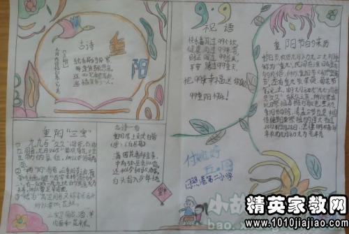 关于重阳节的手抄报内容