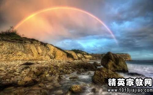 赞美雨后彩虹的句子
