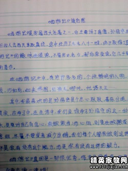 2016西游记读书笔记400字