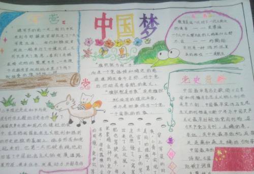 我的中国梦手抄报版面设计图大全