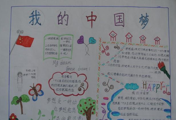 我的中国梦手抄报版面设计图大全图片