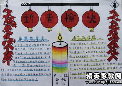 2015最新羊年春节手抄报内容资料大全