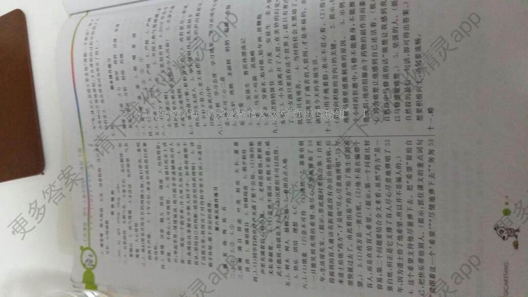 2015年七彩课堂六年级语文下册人教实验版答案