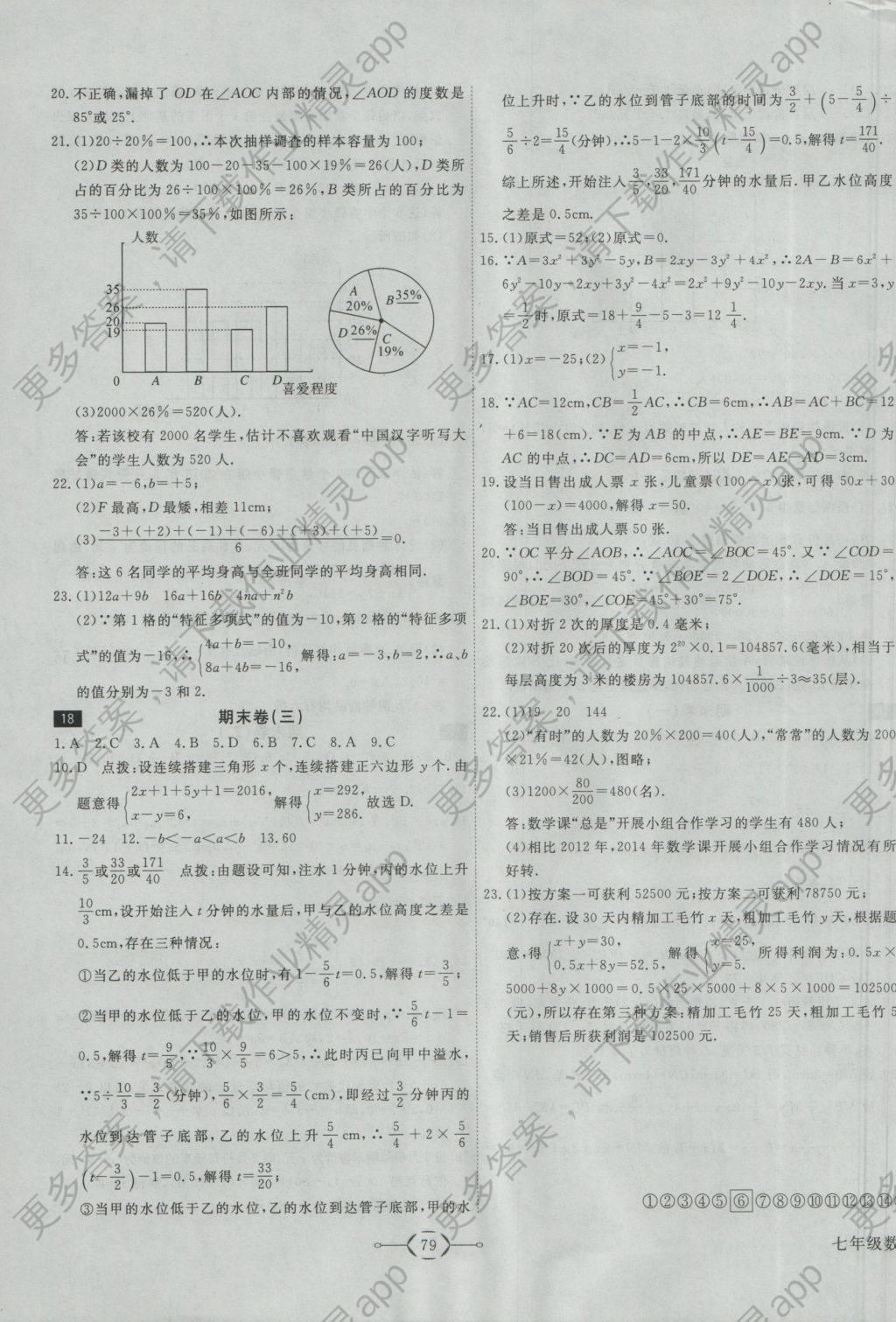 2016年优干线周周卷数学初中七初中上册沪科英语假期总结年级图片