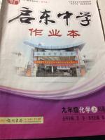 2014年启东中学作业本九年级化学上册科粤版答案