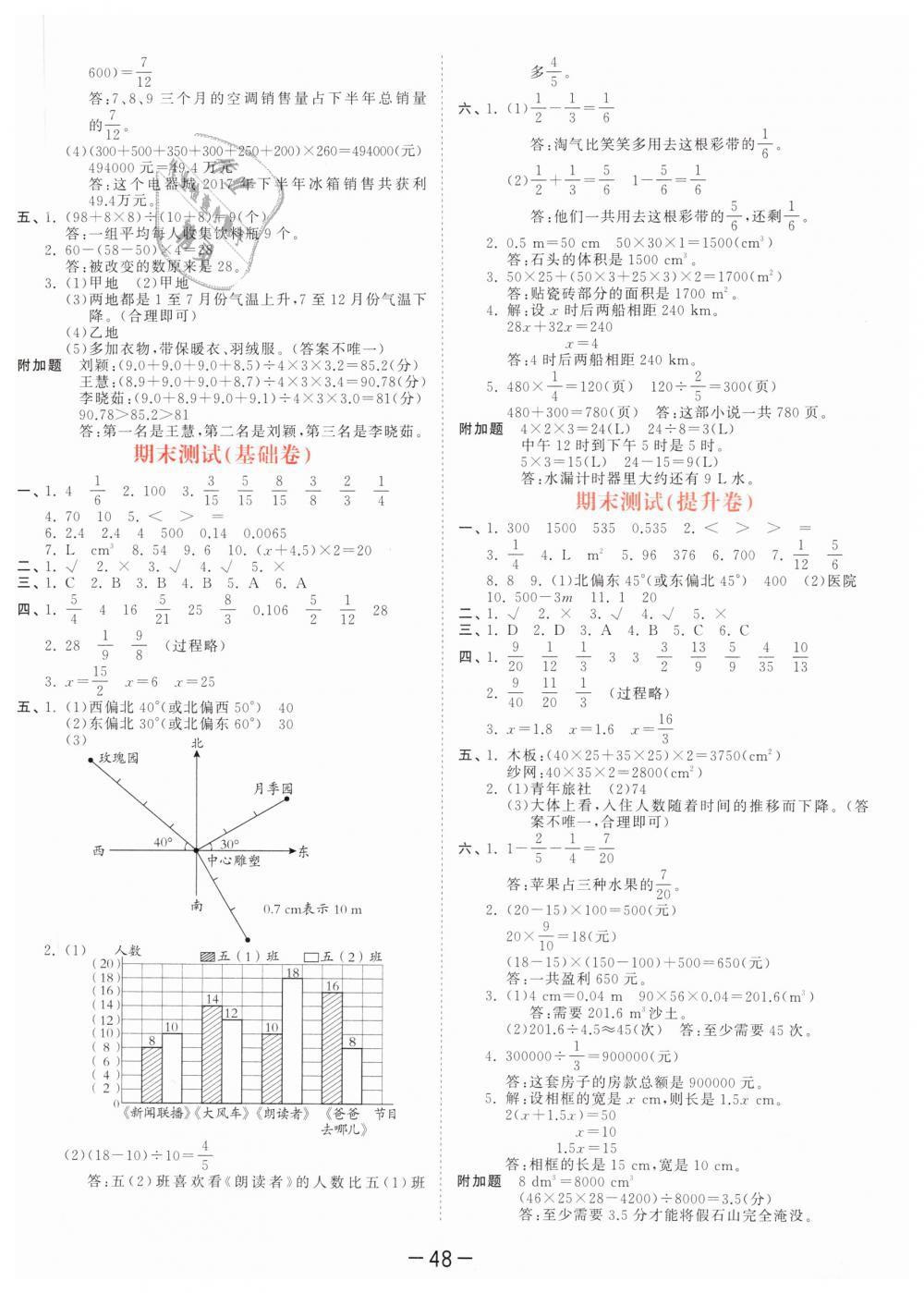 2019年53天天练小学数学五年级下册北师大版第20页