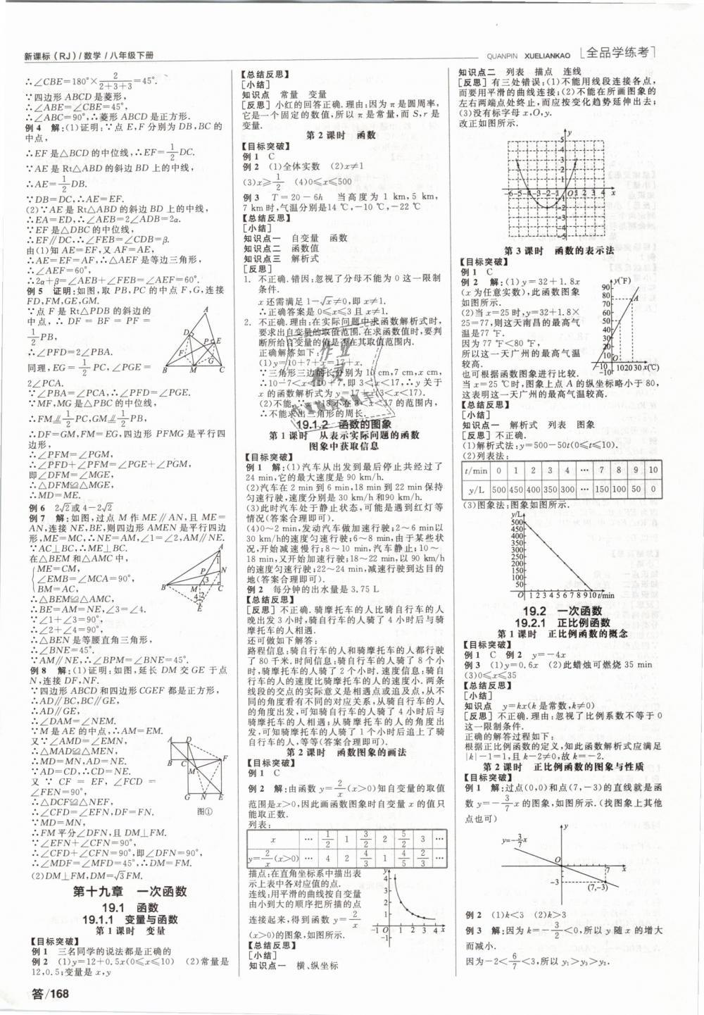 2019年全品学练考八年级数学下册人教版第4页