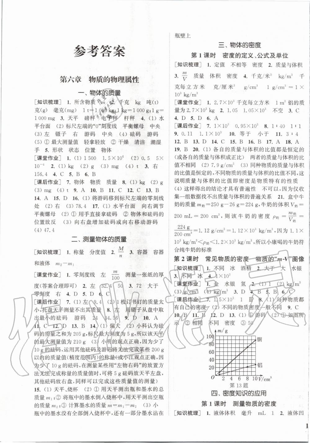 2020年通城学典课时作业本八年级物理下册苏科版江苏专用第1页