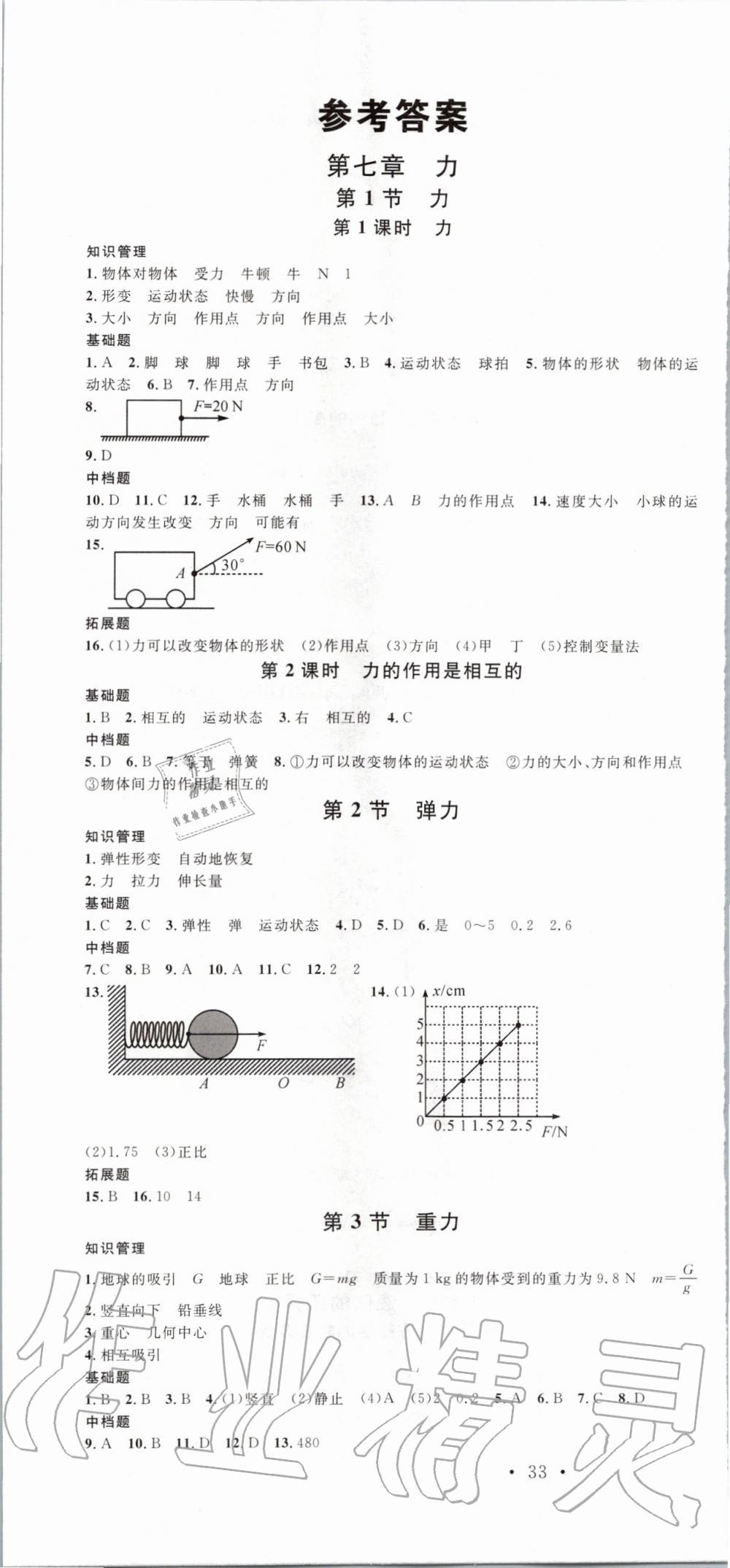 2020年名校課堂八年級物理下冊人教版第1頁