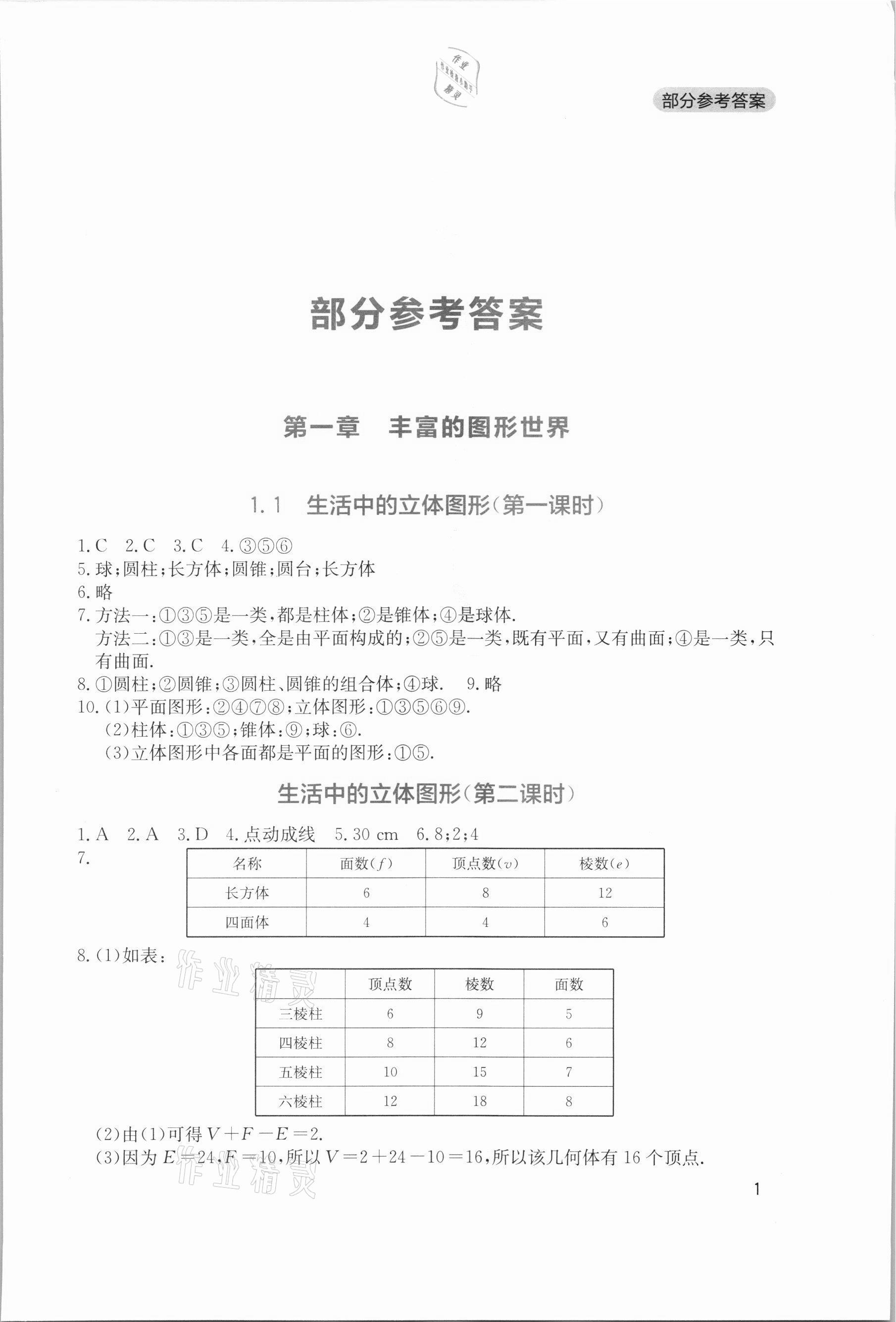 2021年新课程实践与探究丛书七年级数学上册北师大版第1页