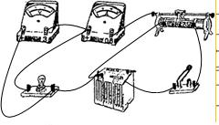 用如图所示的实验器材测定小电灯的伏安特性曲线.要求加在电灯上的电压从零开始逐渐增大到额定电压.在题给方框中画出实验所用的电路图.并按电路图用导线把实物图连接起来