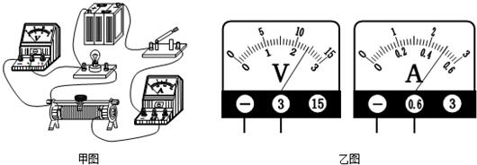"""在做""""测定小灯泡功率""""的实验时,小明同学连接的实物电路如图甲所示."""