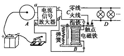 小圆柱是传送带上物品.R1为光敏电阻.R2为定值电阻.此光电计数器图片