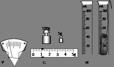 然后用调节好的天平测量小石块的质量,天平平衡时右盘中的砝码质量,游