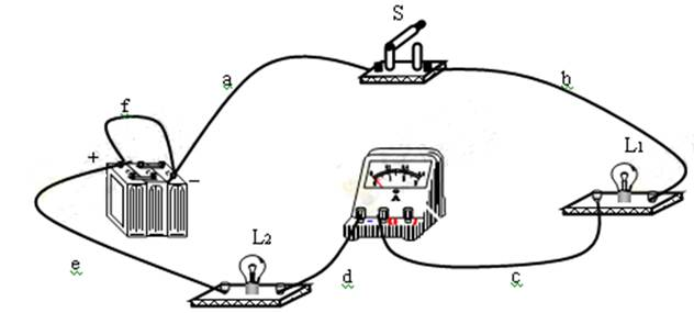 小红在探究串联电路的电流规律时,连接了如图所示的电路,已知电路中